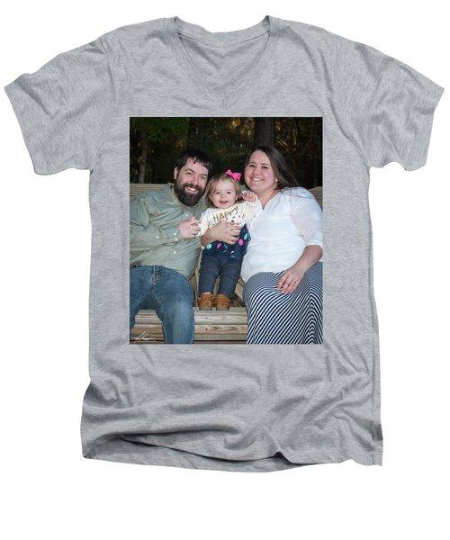 Langley 6581 Men's V-Neck T-Shirt