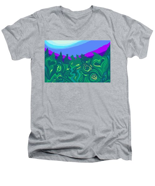 Language Of Forest Men's V-Neck T-Shirt