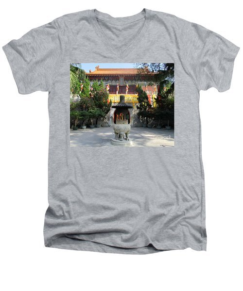 Men's V-Neck T-Shirt featuring the photograph Lantau Island 45 by Randall Weidner
