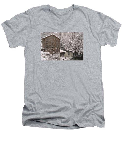 Lanterman's Mill Men's V-Neck T-Shirt