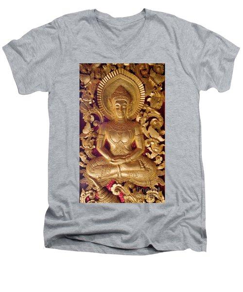 Laos_d264 Men's V-Neck T-Shirt