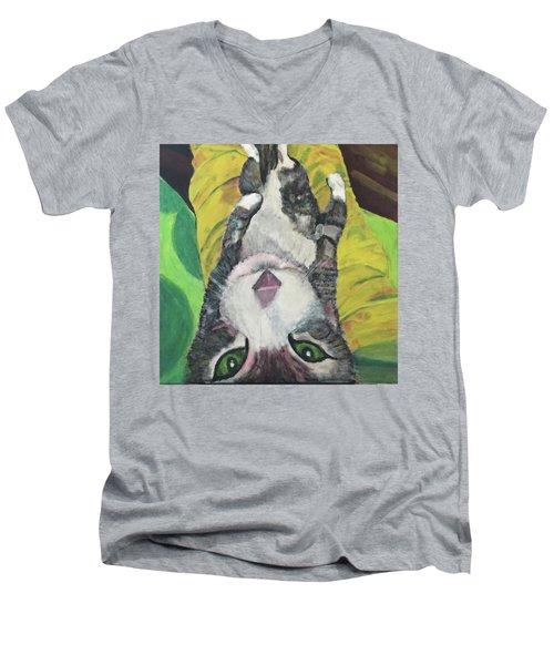 Laptop Men's V-Neck T-Shirt