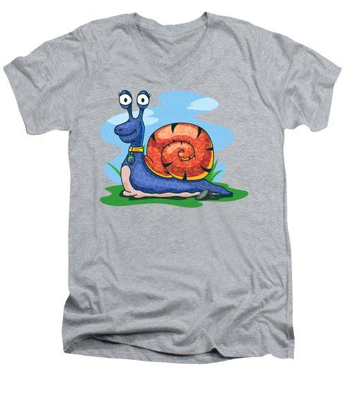 Larry The Snail Men's V-Neck T-Shirt
