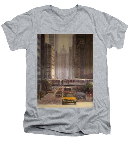 Lasalle Street Men's V-Neck T-Shirt