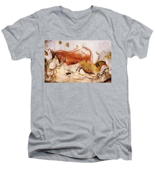 Lascaux Cow And Horse Men's V-Neck T-Shirt