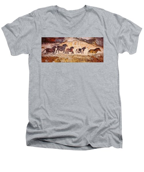 Lascaux Horses Men's V-Neck T-Shirt
