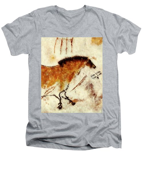Lascaux Prehistoric Horse Detail Men's V-Neck T-Shirt