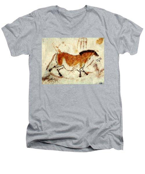 Lascaux Prehistoric Horse Men's V-Neck T-Shirt