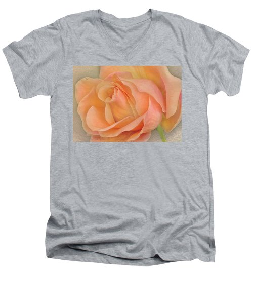 Last Autumn Rose Men's V-Neck T-Shirt by Jacqi Elmslie