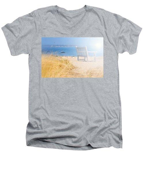 Last Breadth Of Summer Men's V-Neck T-Shirt by Diana Angstadt