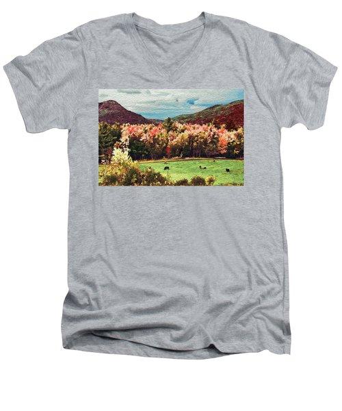 Men's V-Neck T-Shirt featuring the digital art Last Call  by John Selmer Sr