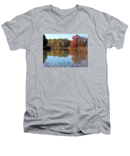 Last Colors Of Fall Men's V-Neck T-Shirt by Teresa Schomig