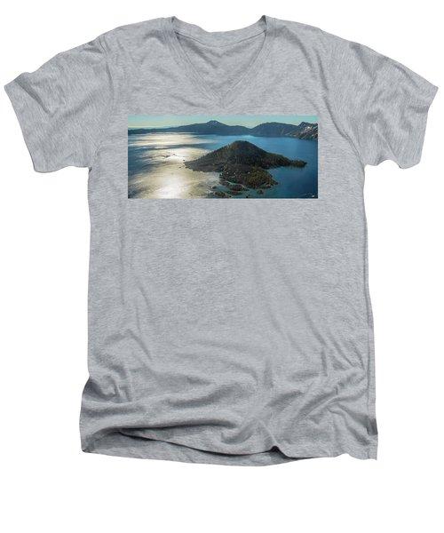 Last Crater View Men's V-Neck T-Shirt