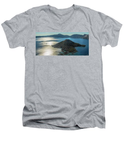 Last Crater View Men's V-Neck T-Shirt