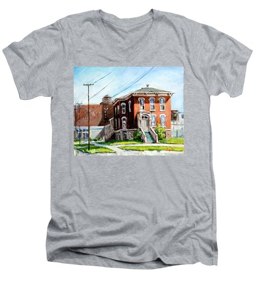 Last House Standing Men's V-Neck T-Shirt by Alexandra Maria Ethlyn Cheshire