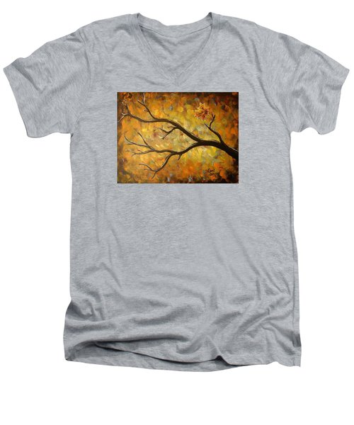 Last Leaf Men's V-Neck T-Shirt