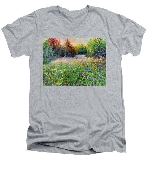 Last Light Men's V-Neck T-Shirt by Hailey E Herrera