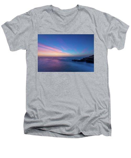 Last Light In April, Sunset Clifs Men's V-Neck T-Shirt