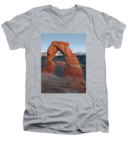 Last Light On Delicate Arch  Men's V-Neck T-Shirt