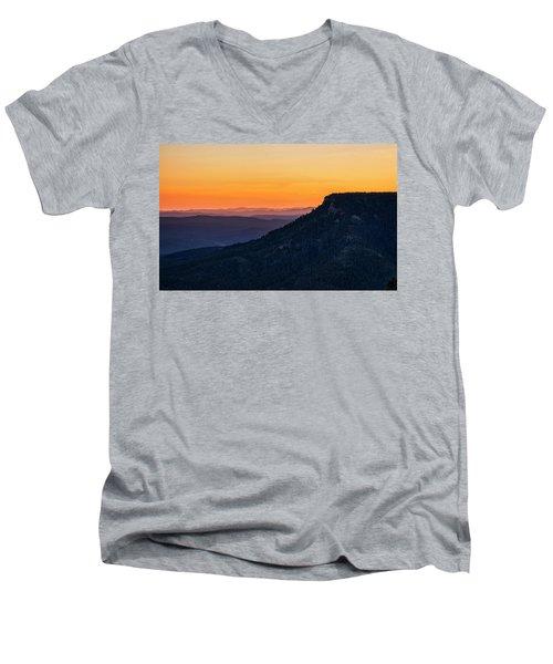 Men's V-Neck T-Shirt featuring the photograph Last Light On The Rim  by Saija Lehtonen