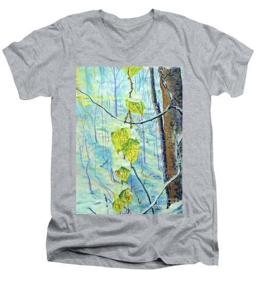 Last Of The Leaves Men's V-Neck T-Shirt