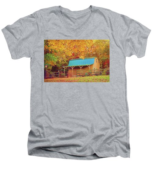 Men's V-Neck T-Shirt featuring the photograph Last Rays Of The Sun by Bellesouth Studio