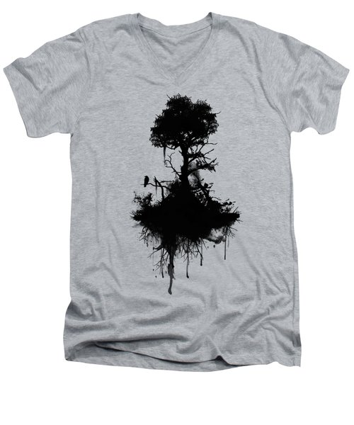 Last Tree Standing Men's V-Neck T-Shirt by Nicklas Gustafsson