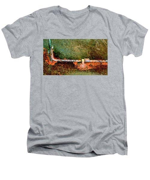 Latch 5 Men's V-Neck T-Shirt by Jerry Sodorff