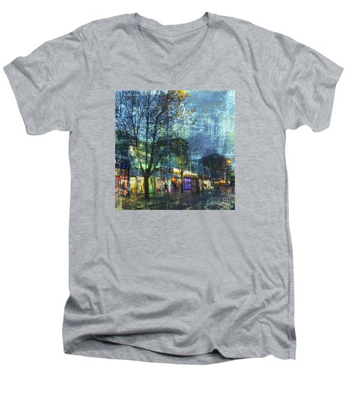 Late Afternoon In Autumn Men's V-Neck T-Shirt by LemonArt Photography