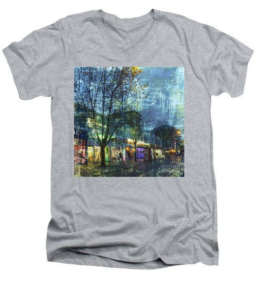 Late Afternoon In Autumn Men's V-Neck T-Shirt