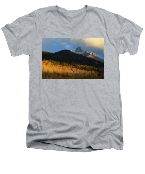 Late Afternoon Light On The San Juans Men's V-Neck T-Shirt by Jetson Nguyen