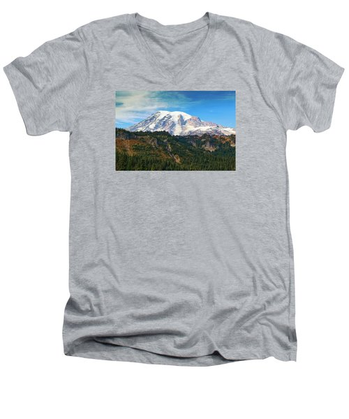 Men's V-Neck T-Shirt featuring the photograph Late Afternoon by Lynn Hopwood