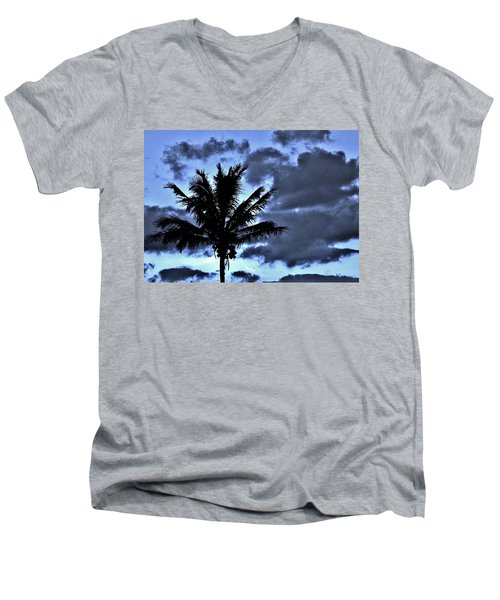 Late Day Palm Men's V-Neck T-Shirt