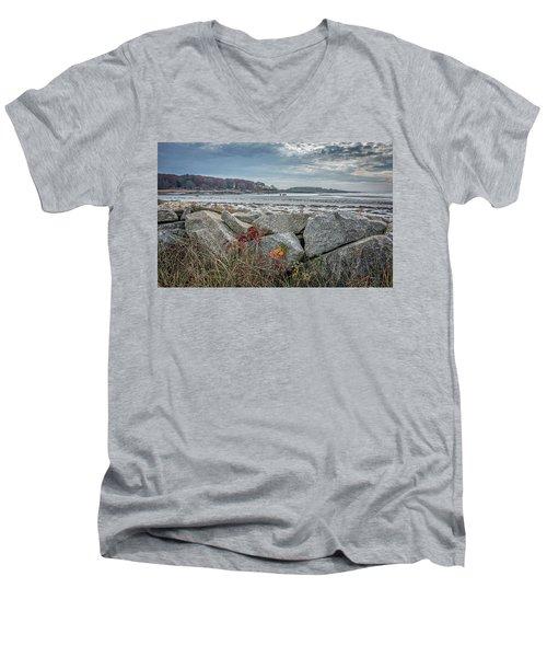 Late Fall Ride Men's V-Neck T-Shirt