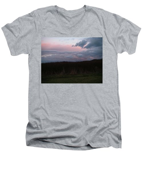 Men's V-Neck T-Shirt featuring the photograph Late Light by Laurie Stewart