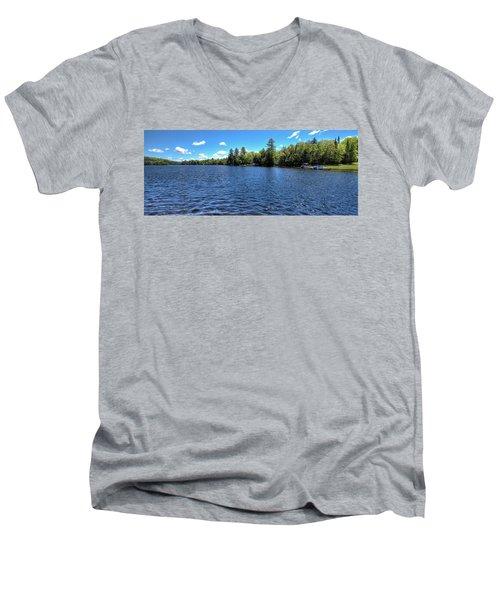 Late Spring On 6th Lake Men's V-Neck T-Shirt