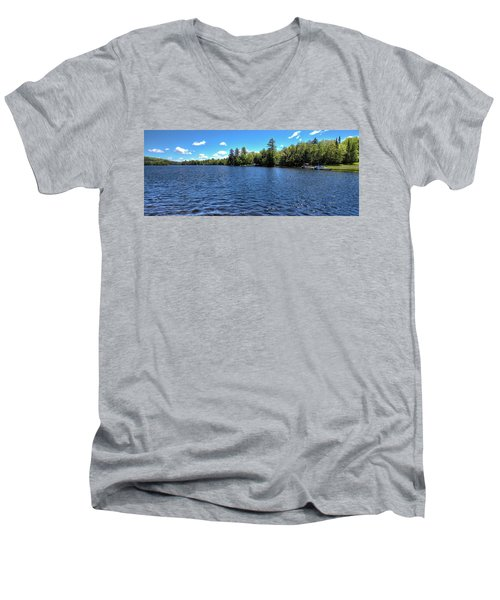 Late Spring On 6th Lake Men's V-Neck T-Shirt