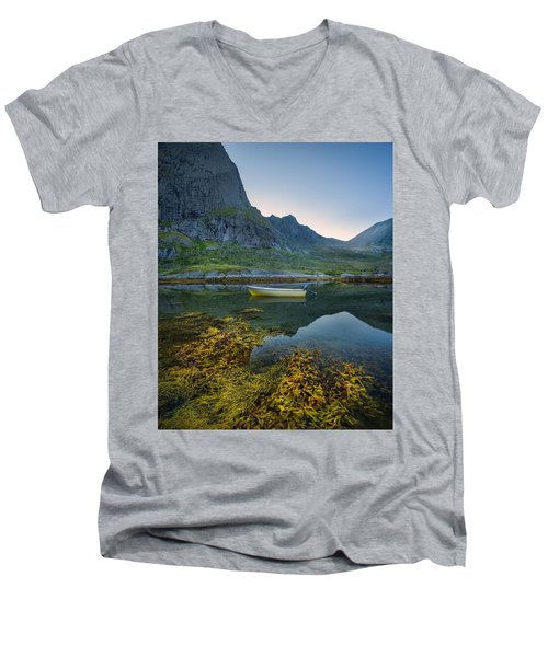 Men's V-Neck T-Shirt featuring the photograph Late Summer by Maciej Markiewicz