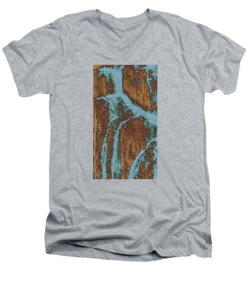 Late Summer Men's V-Neck T-Shirt by Robin Regan