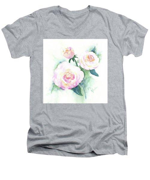 Late Summer Roses Men's V-Neck T-Shirt