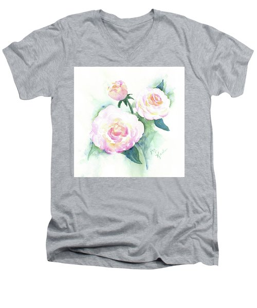 Late Summer Roses Men's V-Neck T-Shirt