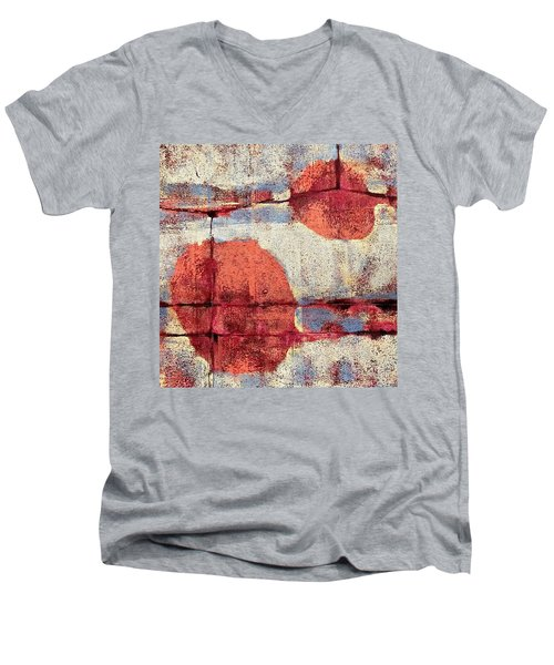 Latent Connections Men's V-Neck T-Shirt by Maria Huntley