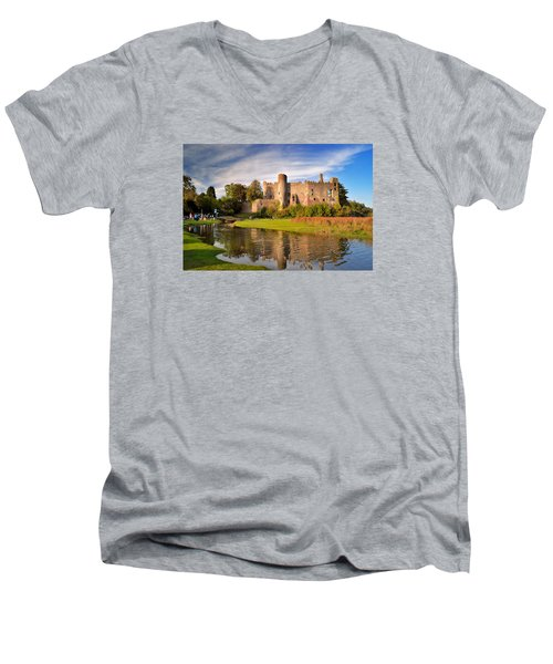 Laugharne Castle 1 Men's V-Neck T-Shirt