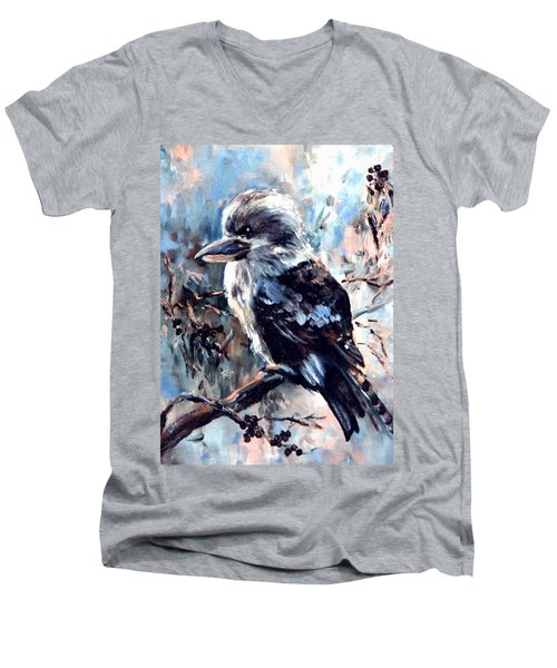 Laughing Kookaburra Men's V-Neck T-Shirt