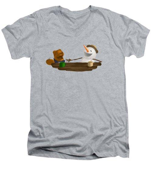 Laughter Men's V-Neck T-Shirt by Jason Sharpe