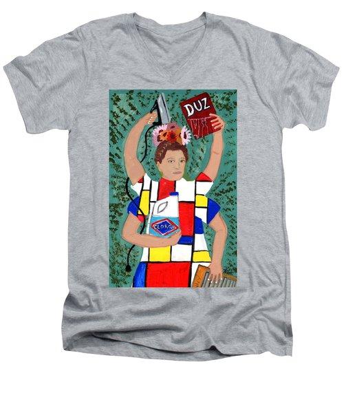 Laundry Goddess  Men's V-Neck T-Shirt