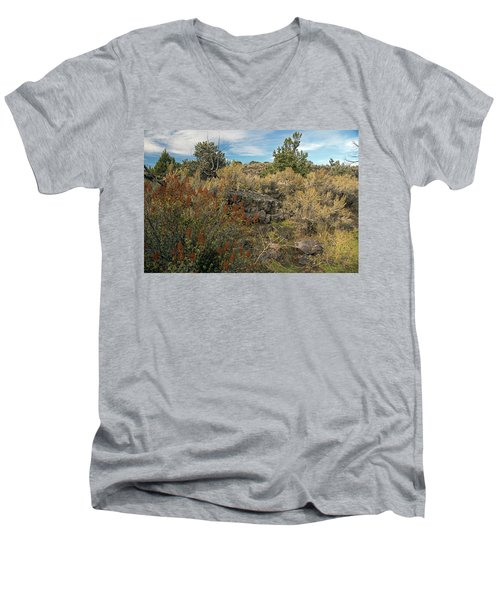 Lava Formations Men's V-Neck T-Shirt by Cindy Murphy - NightVisions