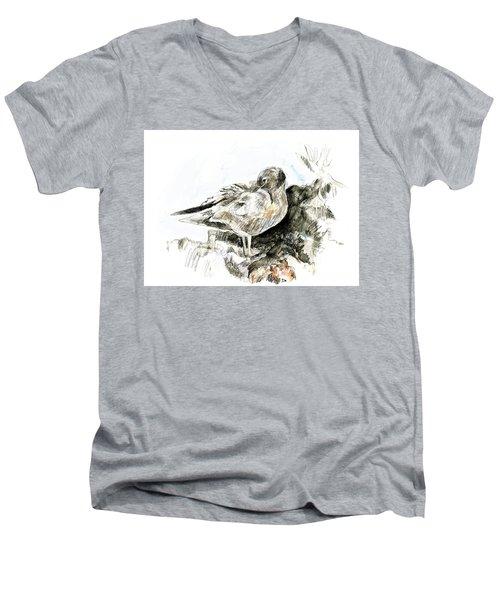 Lava Gull Men's V-Neck T-Shirt