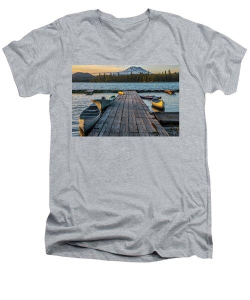 Lava Lake Evening  Men's V-Neck T-Shirt