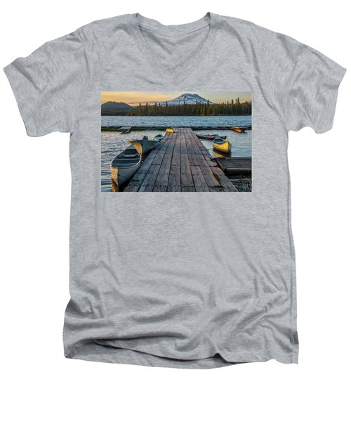 Lava Lake Evening  Men's V-Neck T-Shirt